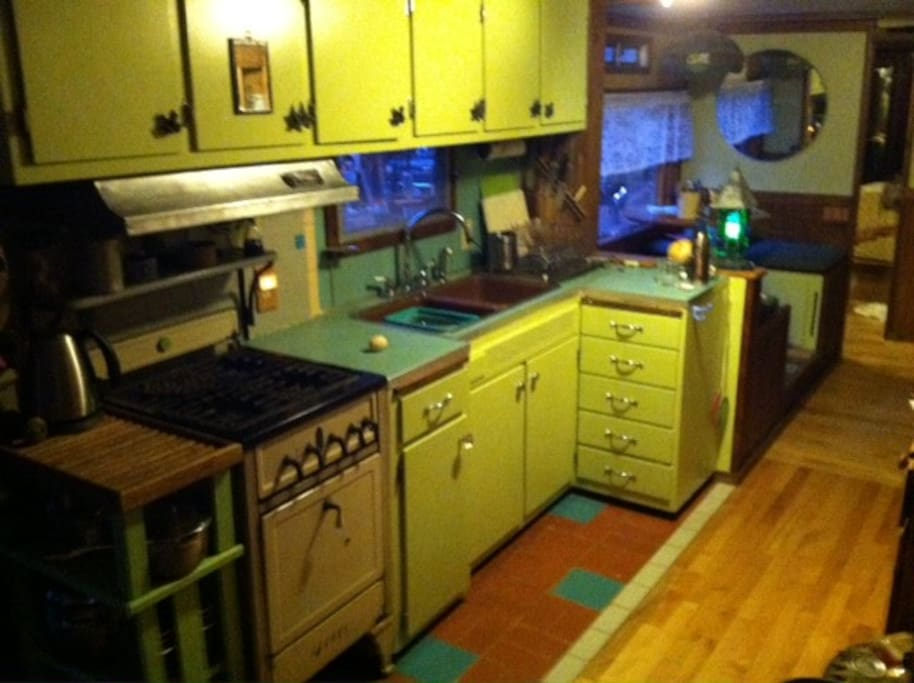 newly painted 'galley'