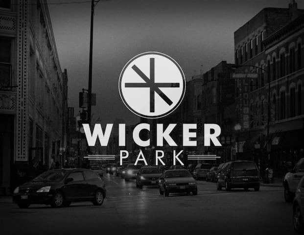Wicker Park - neighborhood logo designed by Steve Shanabruch