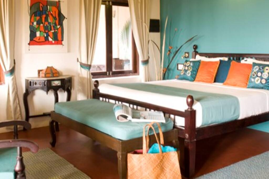 Bedroom 3 in the Palm Villa