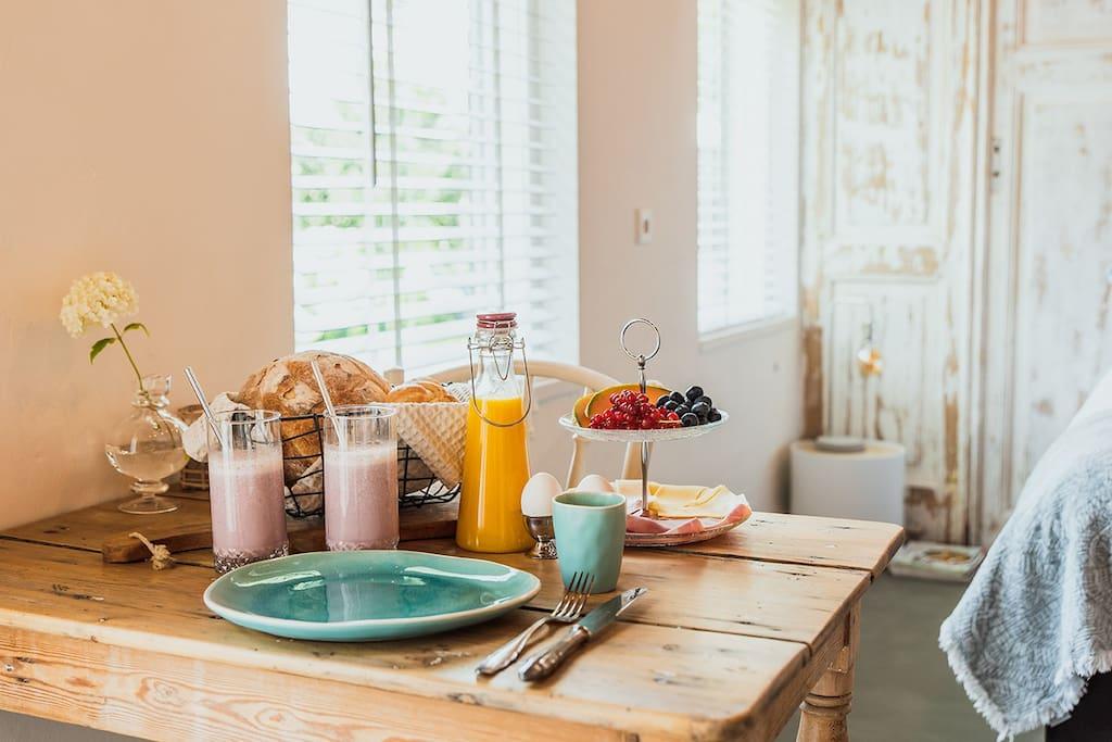 Ons zeer complete ontbijt.