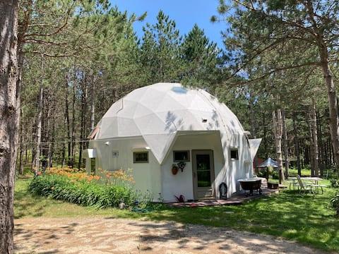 Geodesic Dome Near the Hippie Circle Google Earth