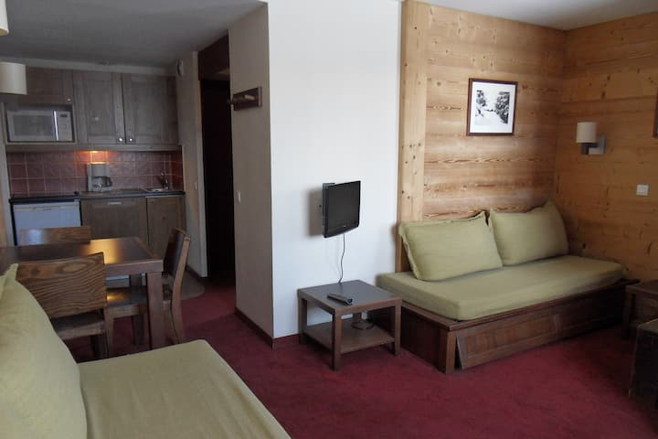 Apartment on slopes for 3  people of 27 m²