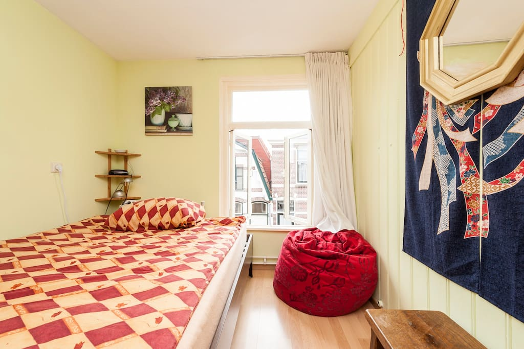 Your bedroom, with double bed for two people