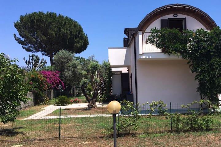 Bella villa spaziosa con olivo