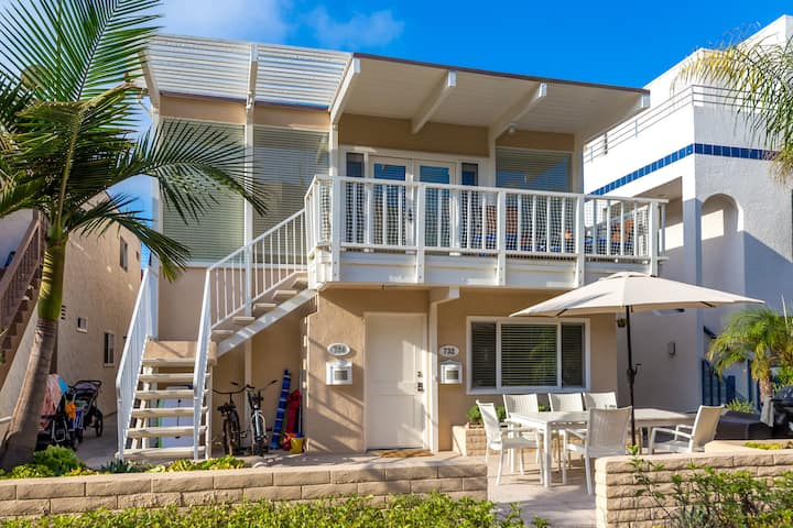 Cozy Beach House- Steps to Sand WITH AC!