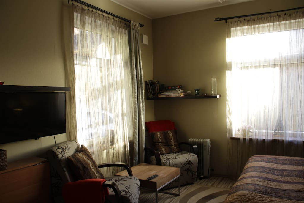Warm, cozy and full of natural light during the morning, day and evening!
