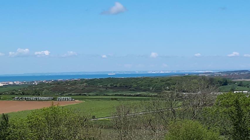Vue sur la baie de WIMEREUX et les côtes anglaises