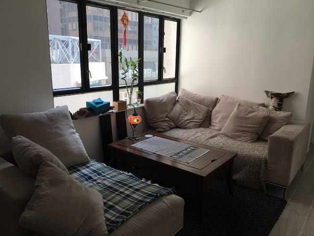 Cosy double bedroom in a stylish flat, Sheung Wan - Hong Kong - Apartment