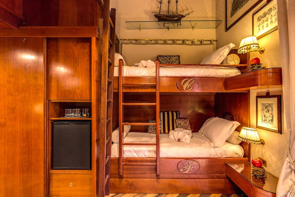 Bunk Bed & Mini Fridge