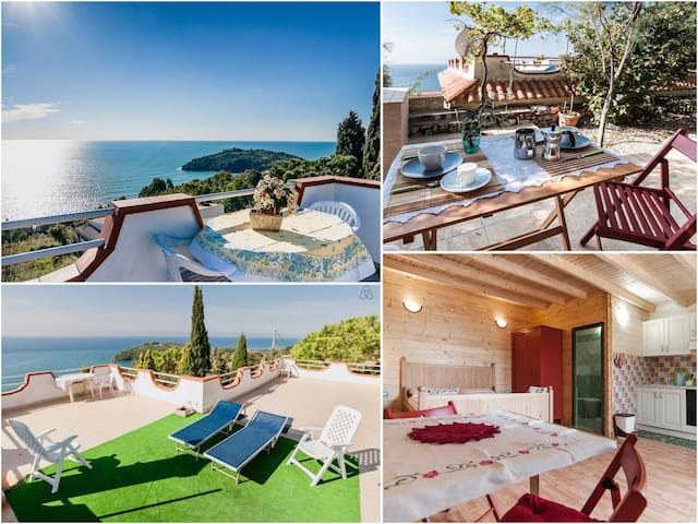 ⭐Charming  Cottage breathtaking sea view terrace
