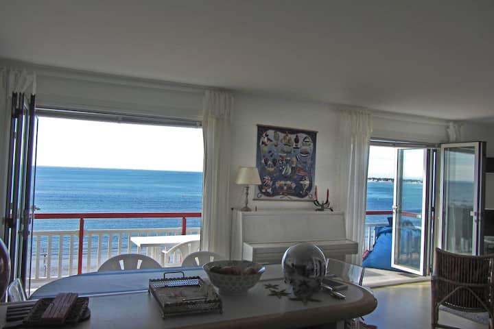Appartement spacieux face à l'océan proche centre