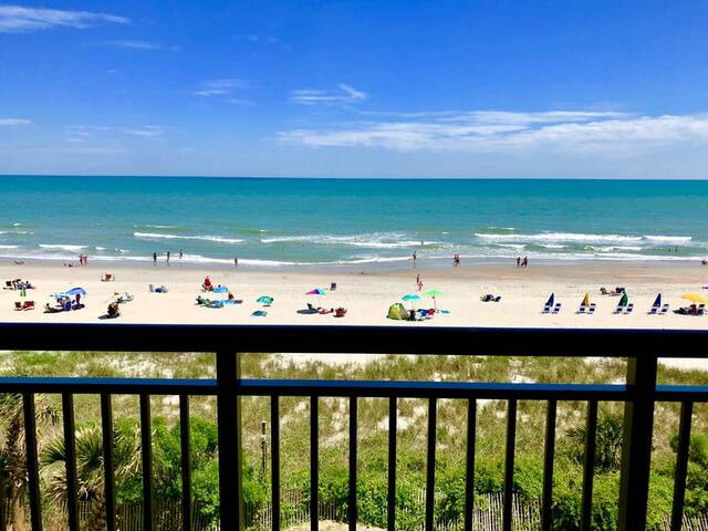 Open Air Arrival YOU FEEL LIKE YOU'RE SITTING ON THE BEACH - Great Oceanfront Condo*Full Kitchen*Pools, Hot Tubs, Lazy River SJa