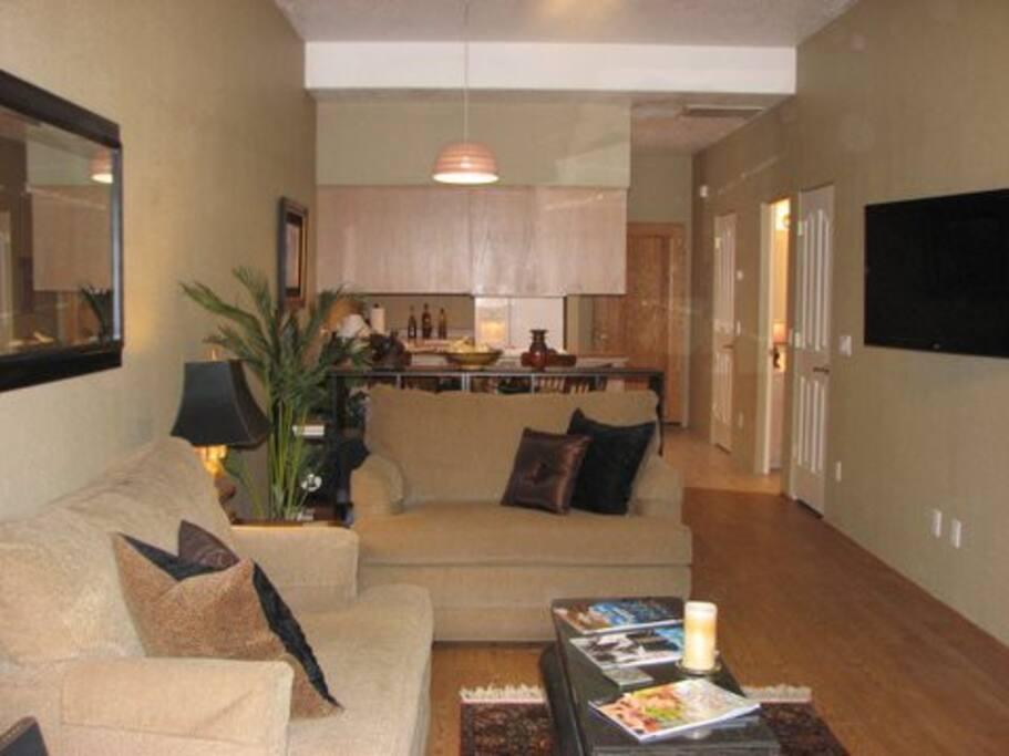 Warm & inviting living room!