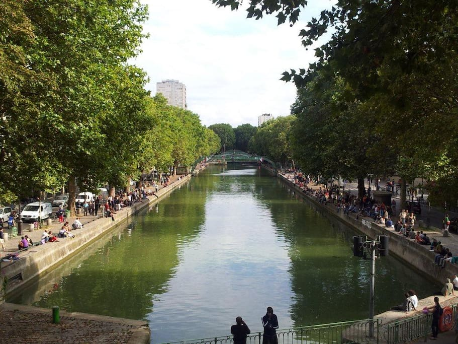 Canal Saint Martin, few steps from the studio.