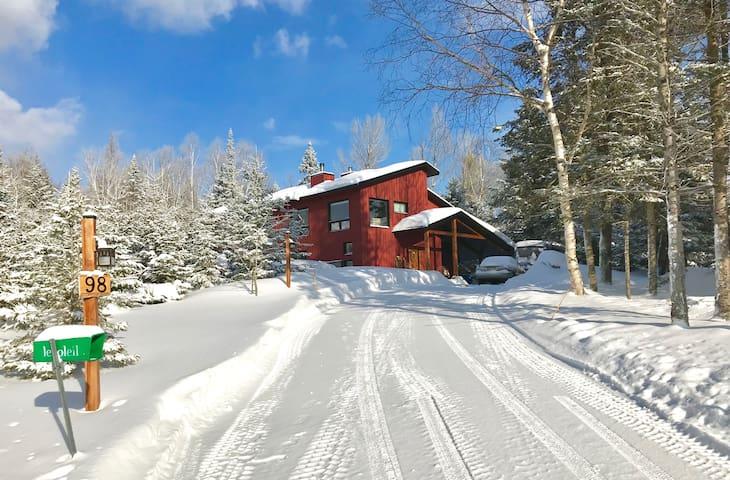 La ferme rouge - Maison neuve dans les bois