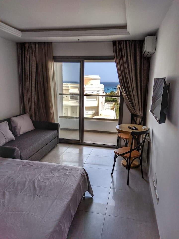 Studio vue de mer à kelibia beach