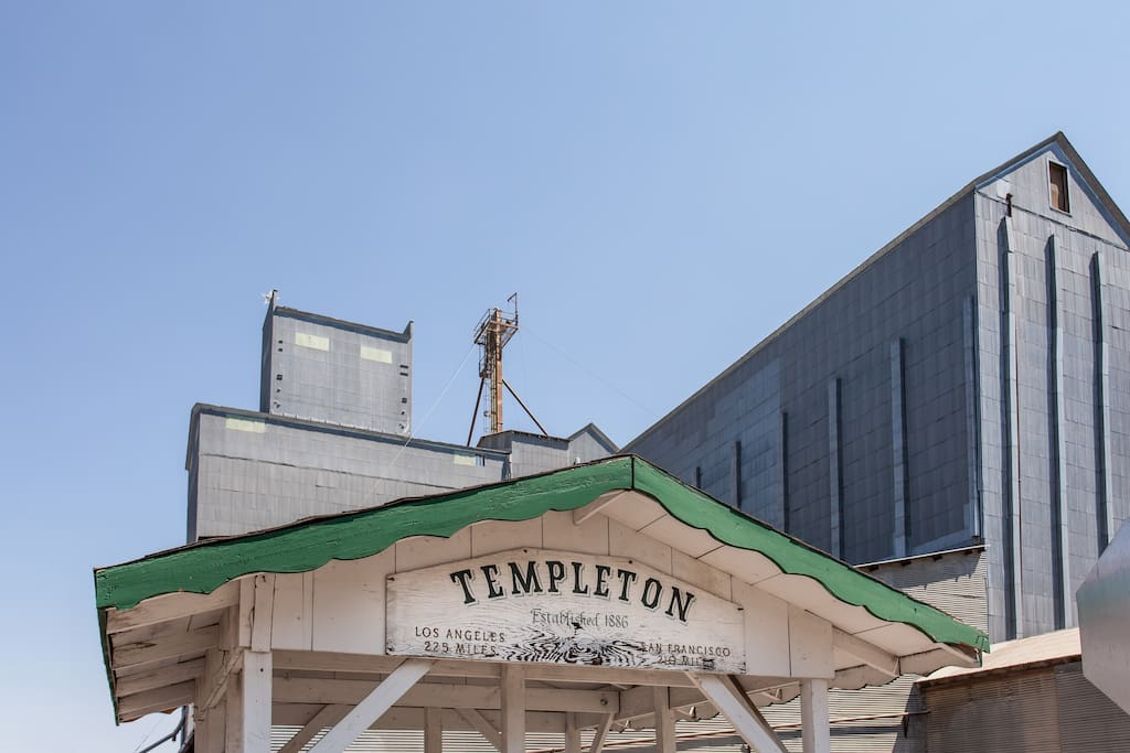 Iconic structure in Templeton-the Templeton Feed and Grain elevators.