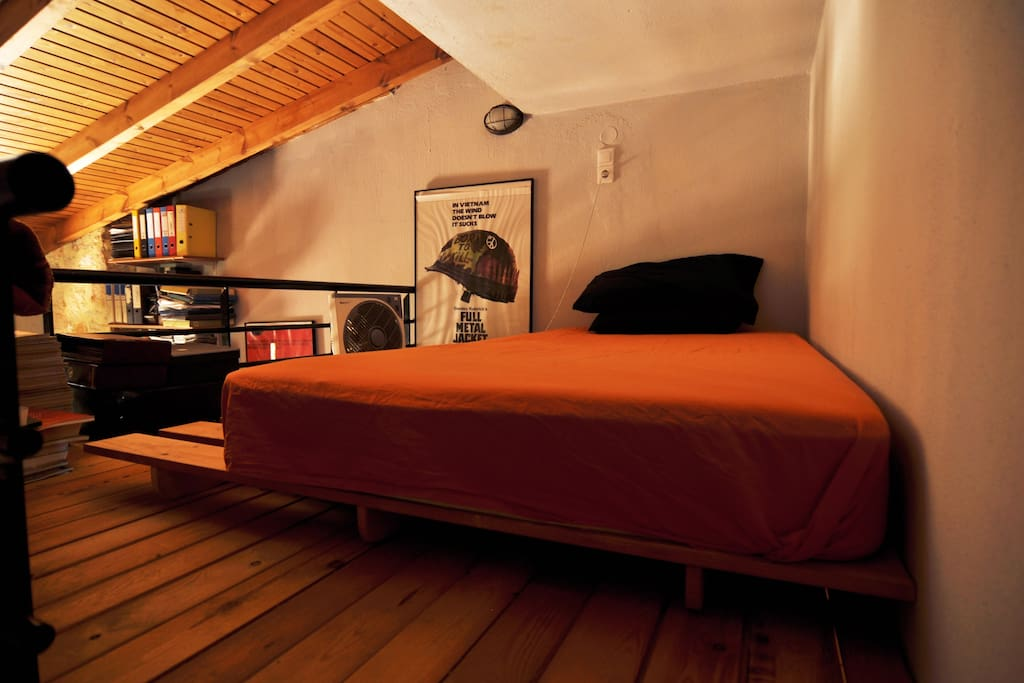 the loft double bed
