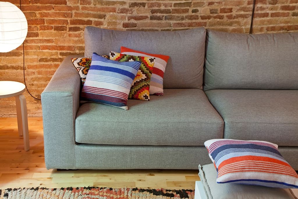 Comfy sofa in lounge area