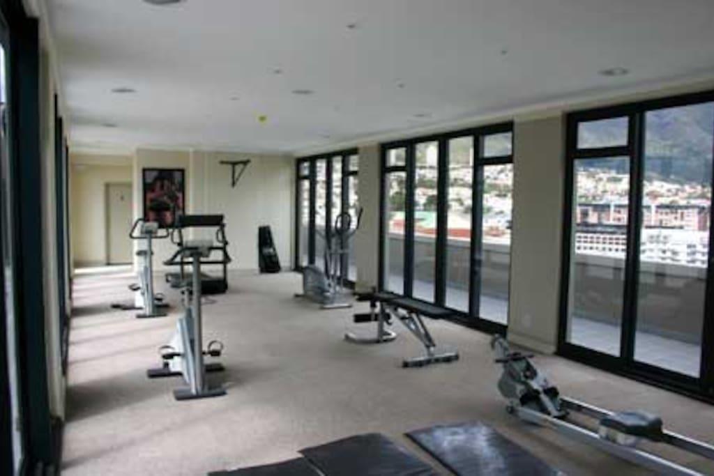 Gym facing Table mountain