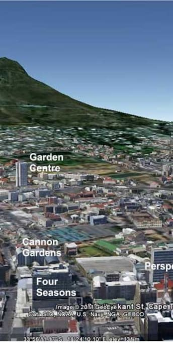 Right in the center of Cape Town .
