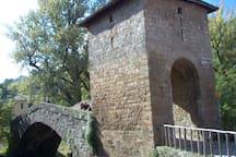 particolare ponte medievale