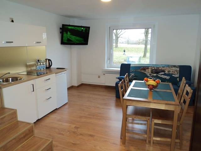 Apartament nad Odrą Blue w okolicy Zoo i Hali