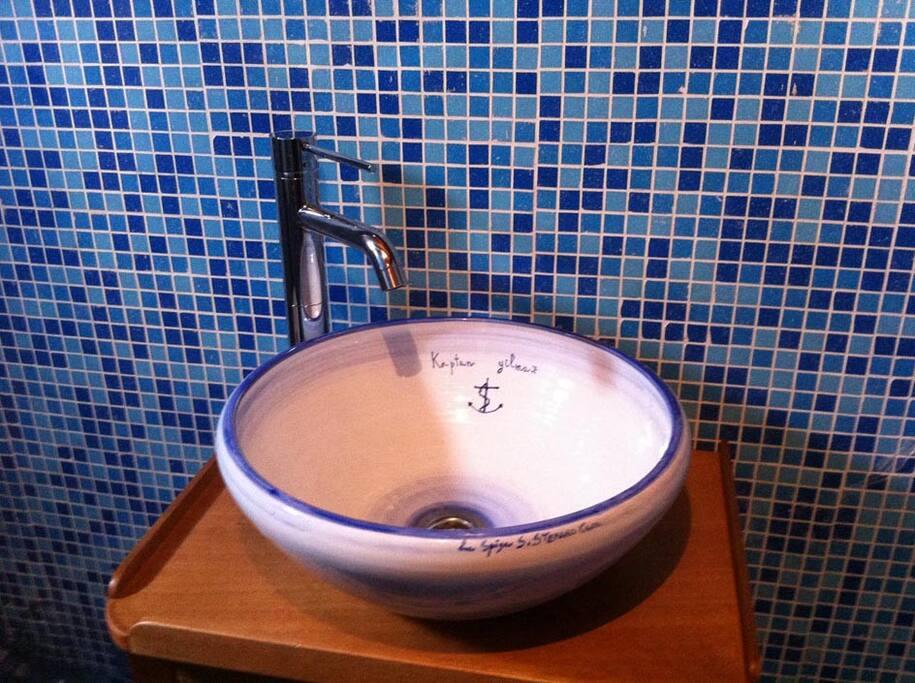 il particolare dei bagni personalizzato