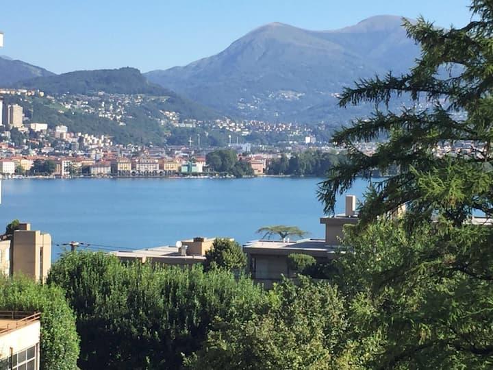 Gemütliche Wohnung mit Pool in Lugano Paradiso