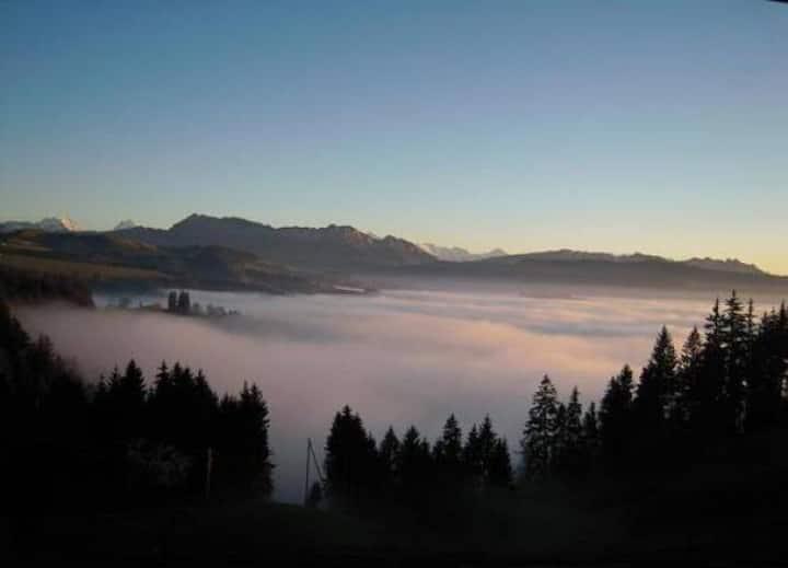 Emmental -Alpensicht, zw. Bern-Thun