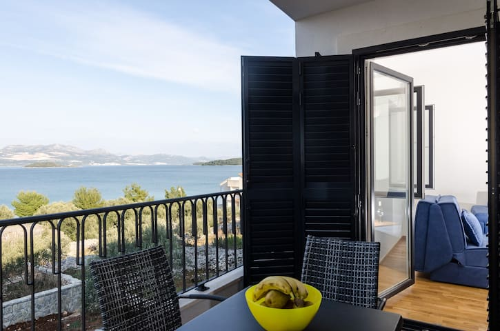 Kula - One-Bedroom with Terrace and Sea View - Drače - Apartment