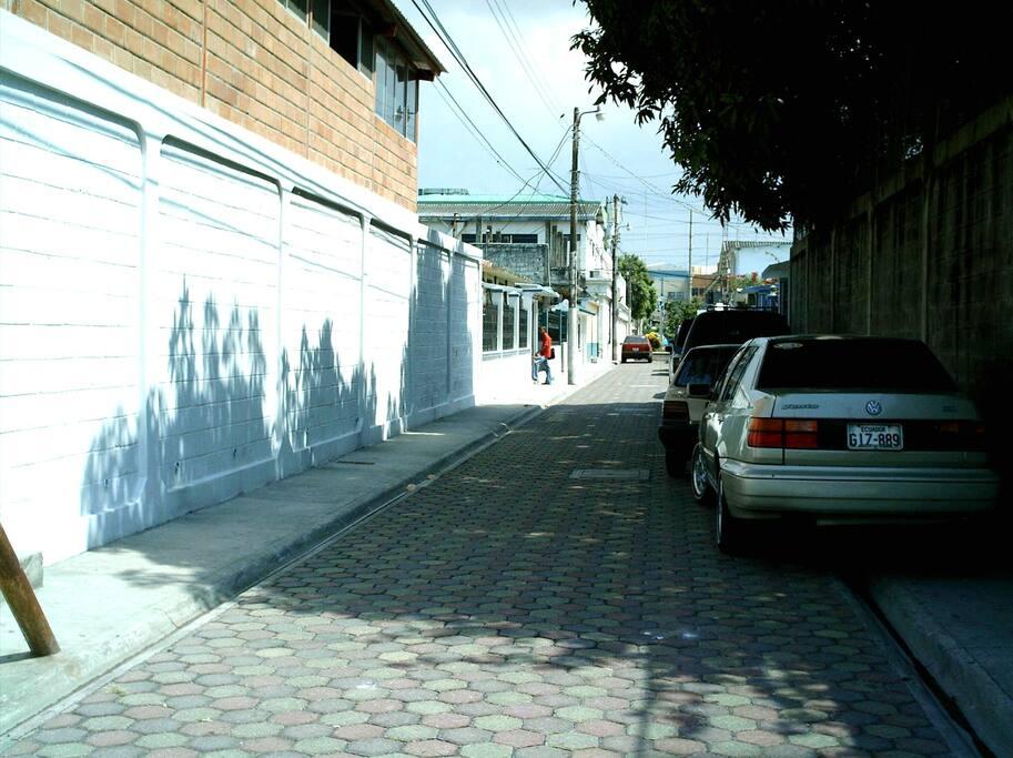 Peatonal de ingreso con adoquines