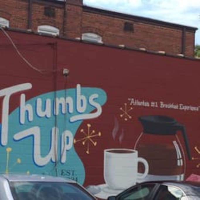 1.5 mile - Thumbs Up Diner down the street