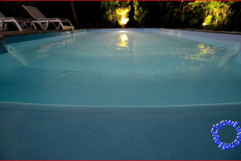 Espace detente: la piscine