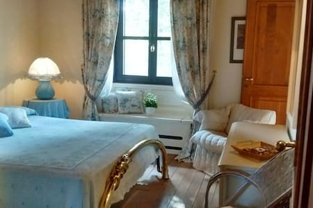 The Blue Guest room/Private Bathroom - Bagnolo Piemonte - Villa