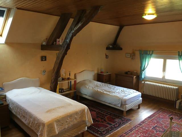 """Chambre """"Constance"""" avec 2 lits simple"""