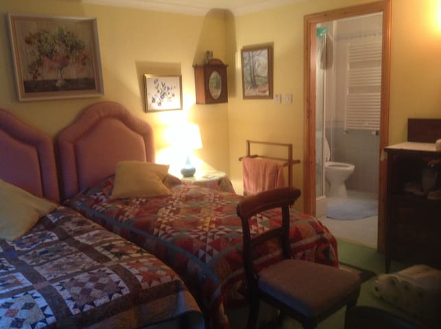 Double room with ensuite shower/toilet/sink
