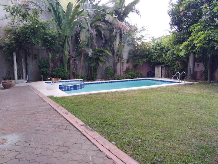 Large house with pool, jacuzzi, yard