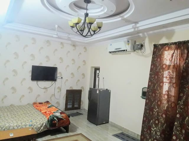 Large size Double Bed AC Room at Ground Floor