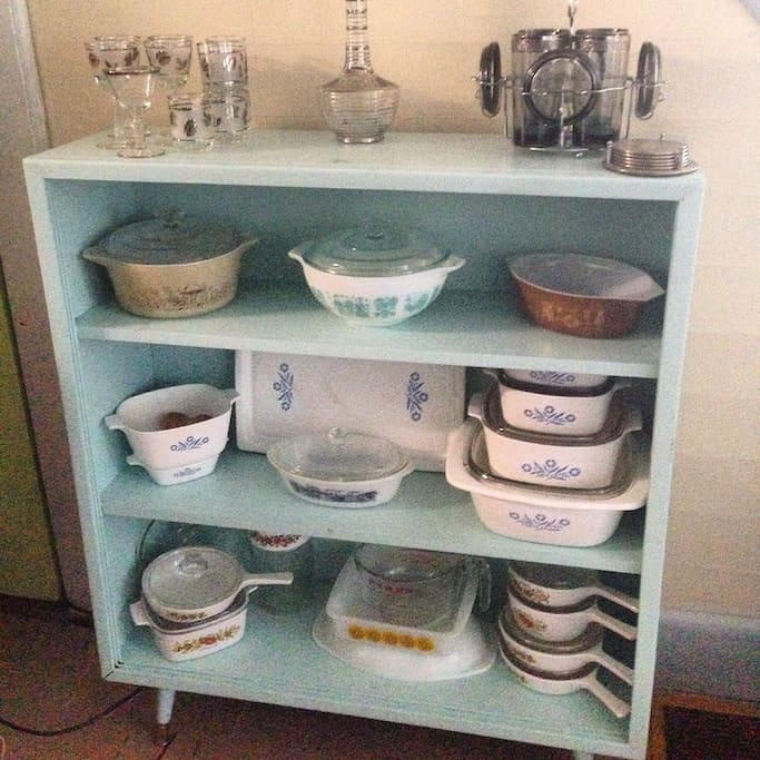 Like to bake? We have Corning Ware, Pyrex and other dishes right out of your grandmother's kitchen!