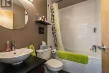 Nice clean bathroom, good water pressure.