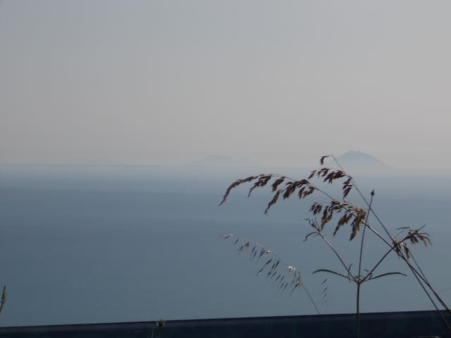 EOLIE ISLAND VIEWED FROM VILLA'S TERRACE