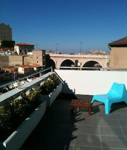 Appart Vallon avec terrasse vue mer - Marseille