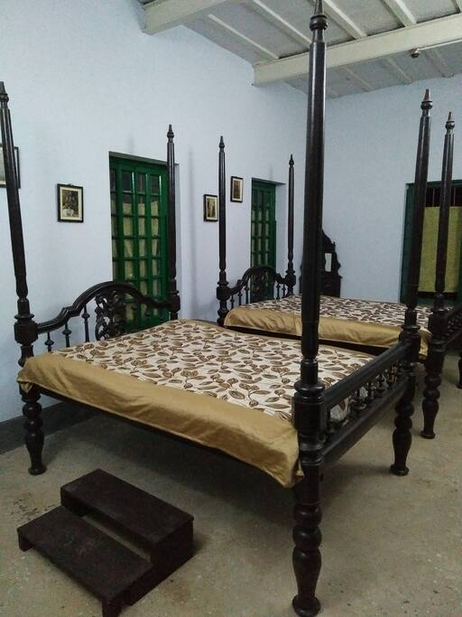 Two Antique Four Poster Beds.