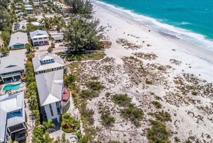 Elegant beach front home! Views for days, private pool, beach access!