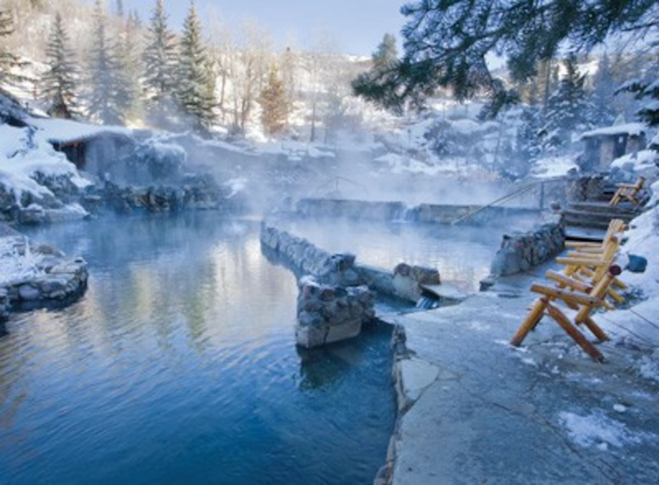 Nearby hot spring