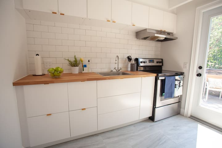 Bright 1 BR Apt in Trendy Queen West Rowhouse