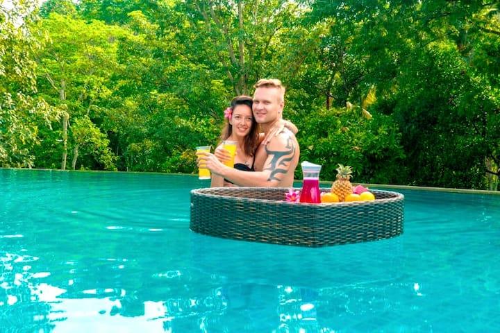 ★New★ Room & Pool & Jungle View 10min Tanah Lot