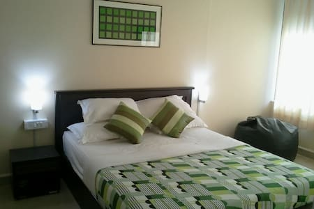 Our fully furnished apts. can accommodate 2 people. The apts. are air conditioned and furnished with LCD, Fridge & Microwave. The apts are facing swimming pool. We offer complimentary WiFi.