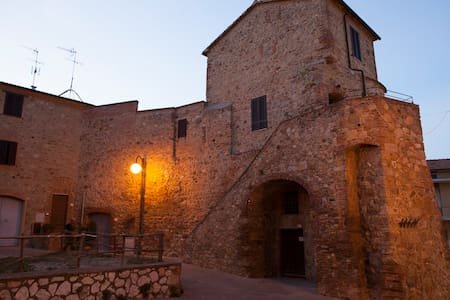 Medieval round tower in Tuscany - Batignano